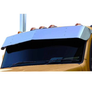 """Kenworth T680 14"""" Stainless Steel Drop Visor For Flat Tops Questions & Answers"""