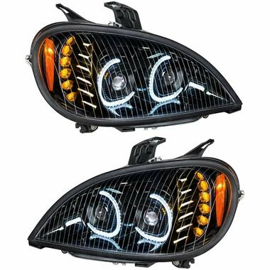 Freightliner Columbia Blackout Full LED Headlight With LED Light Bar Questions & Answers