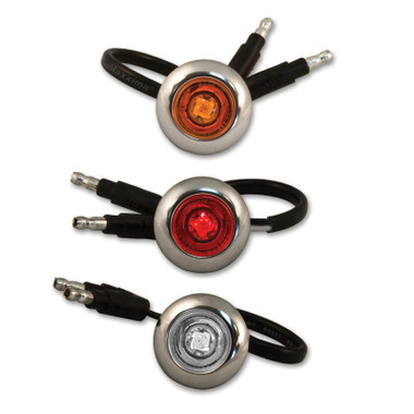 """3/4"""" Round LED Button Lights By Roadworks"""