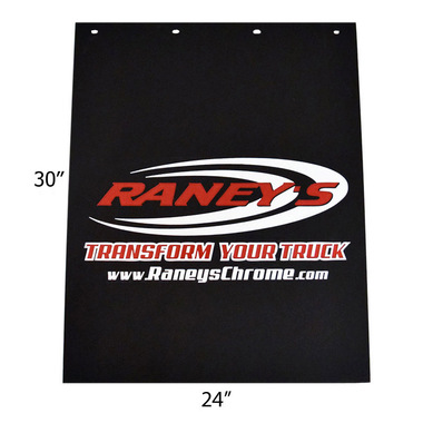 """Raney's Logo Rubber 24"""" x 30"""" Mud Flaps Questions & Answers"""