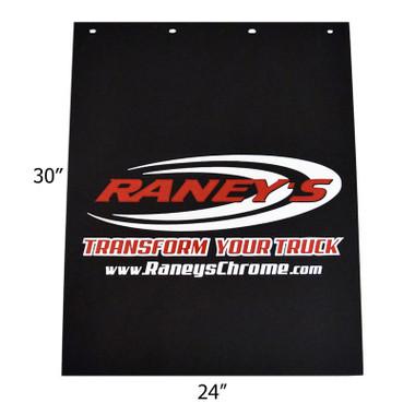 "Raney's Logo Rubber 24"" x 30"" Mud Flaps"