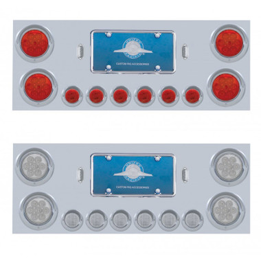Stainless Steel Rear Center Panel With Reflector LED Lights Questions & Answers