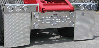 """Chrome Diamond Plate Rubber Mud Flap 24"""" x 24"""" Pair Questions & Answers"""