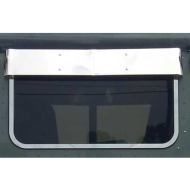 How does the visor mount to the cab and how far away from the cab does the visor stick out?