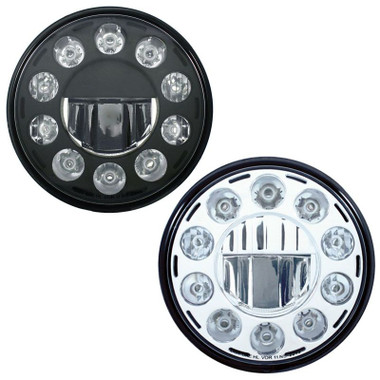 """7"""" Round Crystal Headlight With 11 High Power LEDs Questions & Answers"""