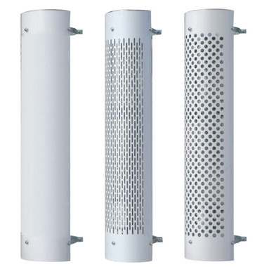 """8"""" Stainless Steel Stack Guard Heat Shield 48"""" Long 180 Degree"""
