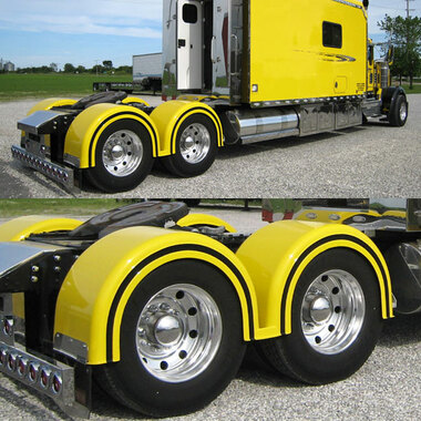 Semi Truck Fiberglass Double Hump Fender Set With Brackets Questions & Answers