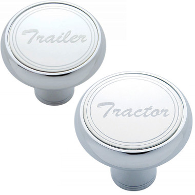 Chrome Deluxe Tractor Trailer Air Brake Knob - Stainless Steel Plaque Questions & Answers