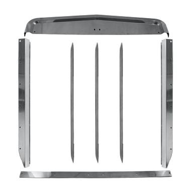 Kenworth W900B Stainless Steel Grill Surround Set