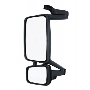 Does this mirror use the brace from the original mirror at the top ? Does it have the antenna mount ?