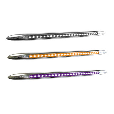 "17"" Flatline Dual Revolution Slim Line Amber And Purple LED Marker Light"