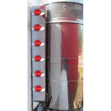 Peterbilt 379 Rear Air Cleaner Light Bar W/ 12 Millennium M3 Style LED Questions & Answers
