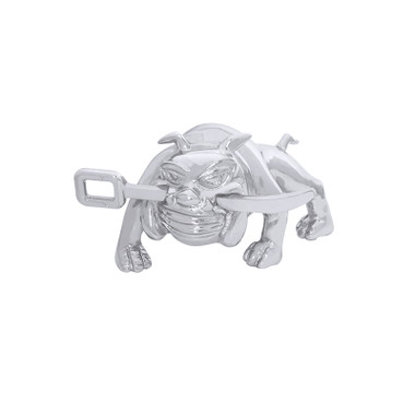 Chrome Bull Dog W/ Winch Bar Hood Ornament By Grand General Questions & Answers