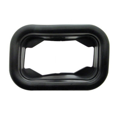 Rectangular Black Rubber Grommets