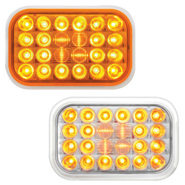 Rectangular Pearl Amber Park Turn Clearance LED Light By Grand General Questions & Answers