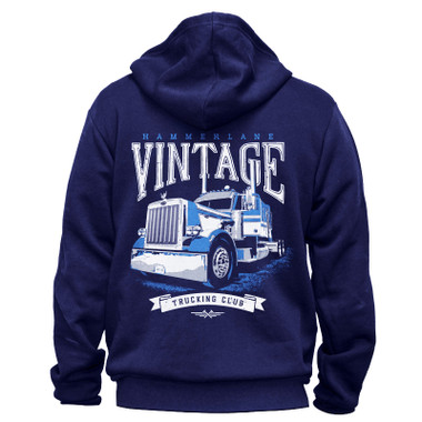 What truck is that in the picture on the hoodie please. And do you have any Kenworth W900 hoodies that zip up?