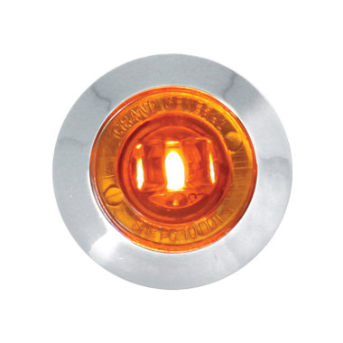 """Dual Function 1.25"""" Clearance Marker & Turn LED Light With Bezel By Grand General"""