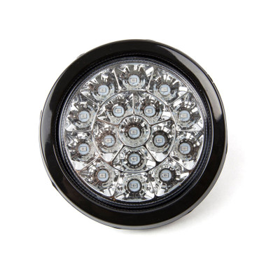 "4"" Round 16 LED White Reverse Light  With Rubber Grommet"