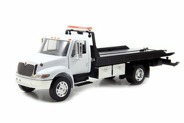 International Durastar 4400 White Flatbed Tow Truck 1/24 Scale Questions & Answers