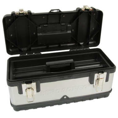 """Stainless Steel 15"""" Tool Box  With Removable Tray Questions & Answers"""