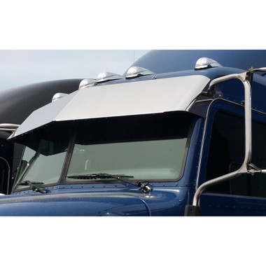 """Peterbilt 384 386 389 Stainless Steel 14"""" Drop Visor Blind Mount No Drilling Required Questions & Answers"""