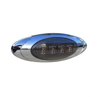 Smoke Oval P1 LED Clearance Marker Lights