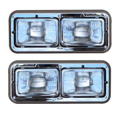 Kenworth T800 T600 W900 Dual Rectangular Headlight Assembly