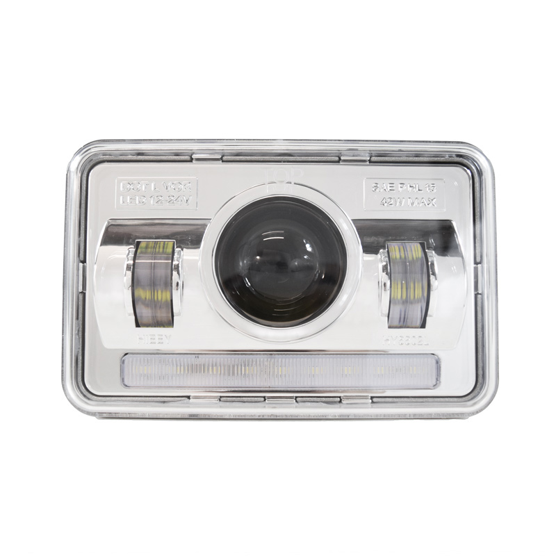"4"" x 6"" Full LED Projector Headlight With LED Running Light"